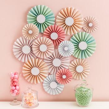 cricut colorful paper rosettes wall decor