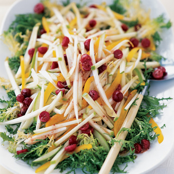Endive and Apple Salad with Cranberry Dressing