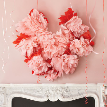Tissue-Paper Wall Heart