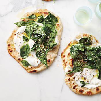 Spinach-and-Yogurt Flatbreads