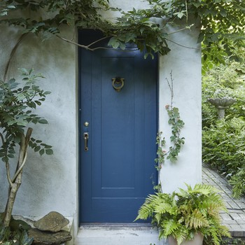blue painted front door