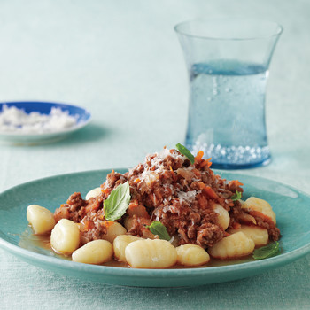 Gnocchi with Quick Meat Sauce