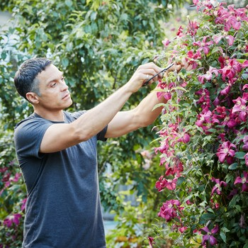 floral designer max gill in his garden