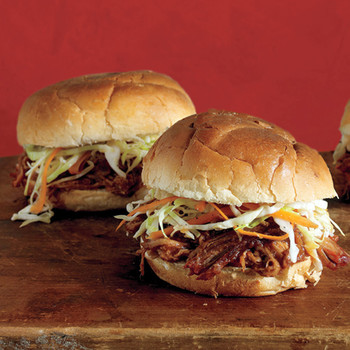 Pulled-Pork Sandwiches with Coleslaw