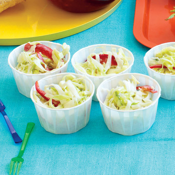 Green Cabbage and Yogurt Slaw