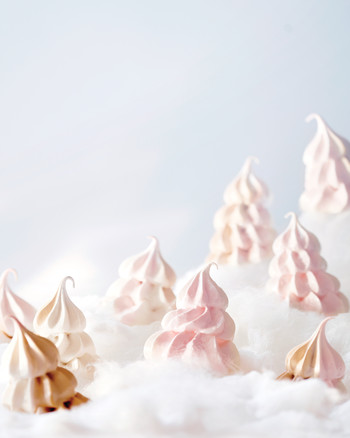 Pink Brown Sugar Meringue Cookies