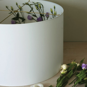 Flower-Outline Lampshade How-To