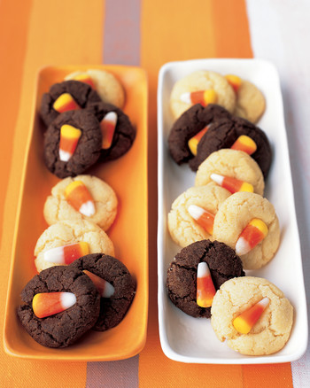 Orange Jack-o'-Lanterns with Sorbet