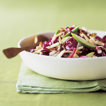 Red and Green Cabbage Slaw with Bacon