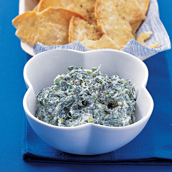 Spinach Dip with Pita Crisps