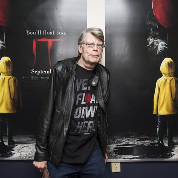 "Stephen King at special screening of ""It"""
