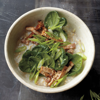 Spinach, Tofu, and Brown Rice Bowl