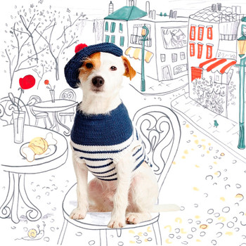 """Le Chien A La Mode"" Knit Dog Outfit"