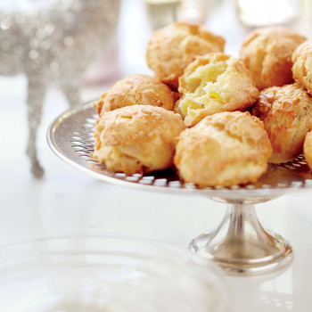 Three-Cheese Gougeres