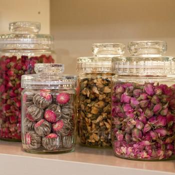 Floral Teas on Display