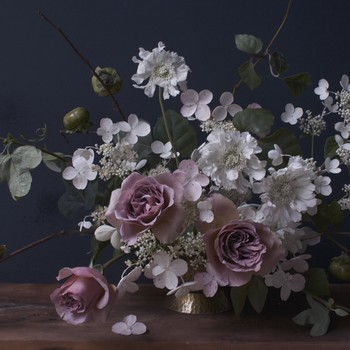 A Wild, Garden-Inspired Hydrangea Arrangement
