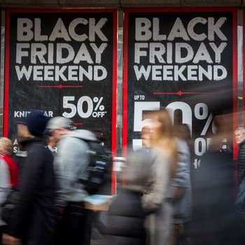 Shoppers out for Black Friday