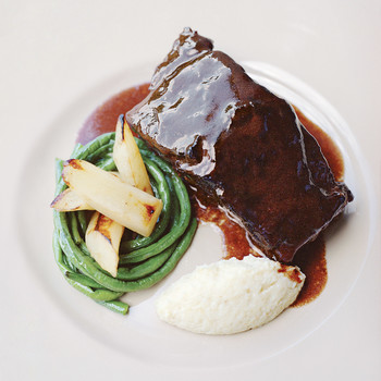 Pierre Schaedelin's Braised Short Ribs with Celery Root Puree