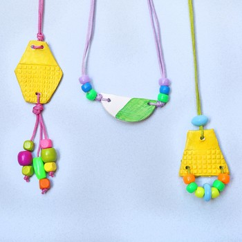 Kids' Craft: Air-Dry Pendant Necklaces