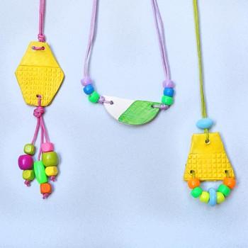 Kids' Craft: Air-Dry Pendant Necklaces