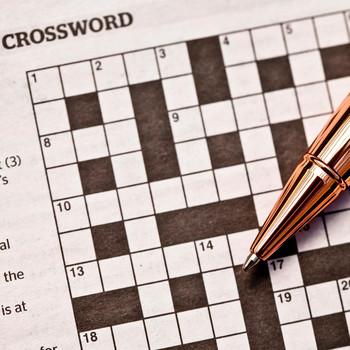 Crossword Puzzle in newspaper