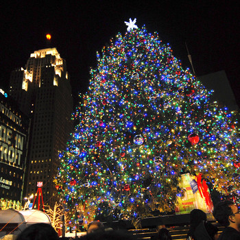 Detroit's Christmas tree