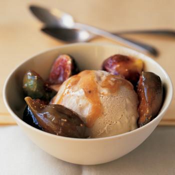 Brown-Sugar Ice Cream With Caramel Fig Swirl