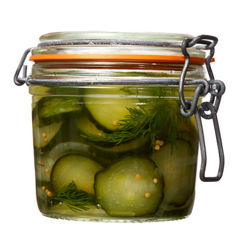 freezer pickles jar