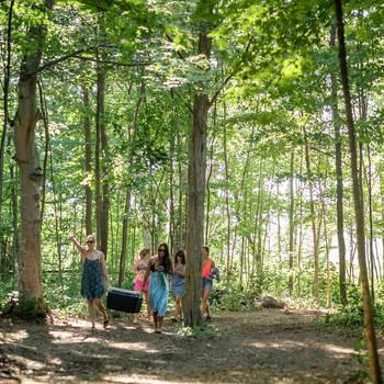 glamping girlfriends trip woods