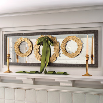 Gold Leaf-Sticker Wreath