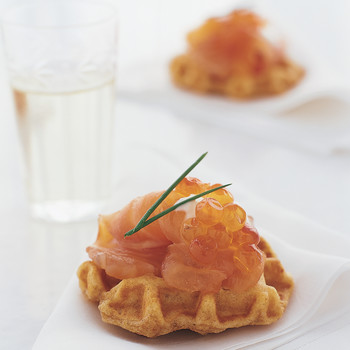 Gravlax with Curry Waffles