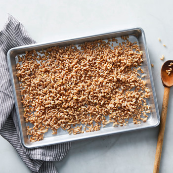 how to cook farro in metal pan