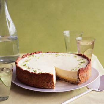 lime pistachio tart