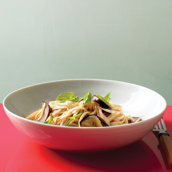 Stir-Fried Noodles with Eggplant and Basil
