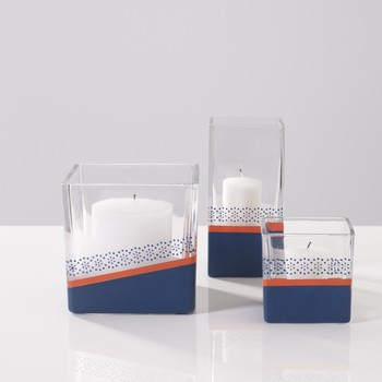 indigo votive candles