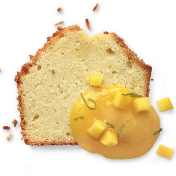 Toasted Coconut Pound Cake with Mango-Lime Sauce