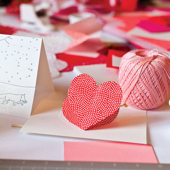 Heart-in-the-Fold Valentine's Day Card