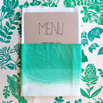 How to Dip-Dye Your Own Ombre Napkins