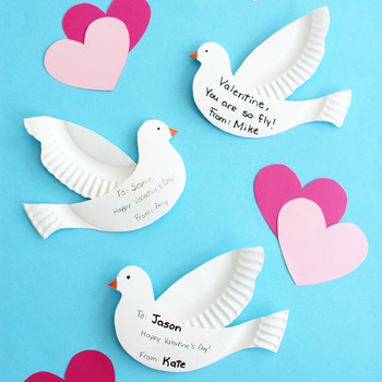 paper-plate doves