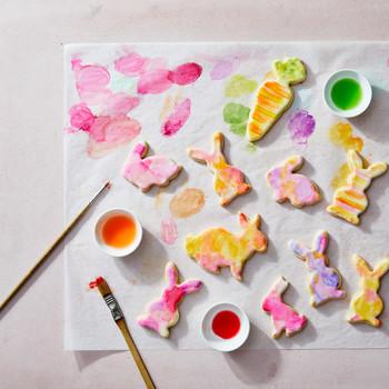 兔子饼干粉彩画
