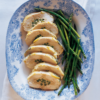 Salt-Baked Chicken Breast Stuffed with Asparagus