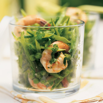Shrimp Salad with Peas and Chervil Vinaigrette