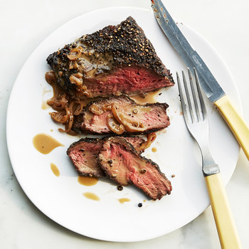 Flat-Iron Steak au Poivre
