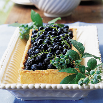 Blueberry Tart with Lime Curd