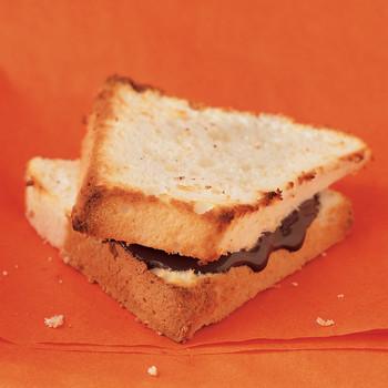 Chocolate Angel-Food Cake Sandwiches