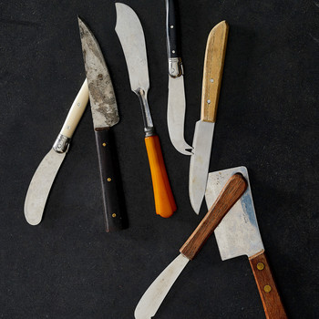 assortment of cheese knives