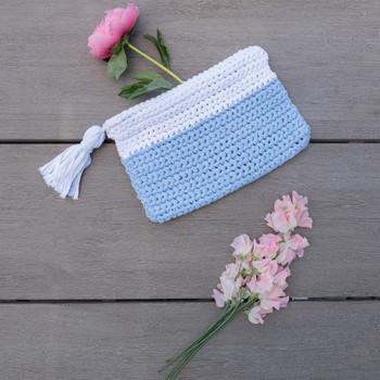 crocheted clutch tassel