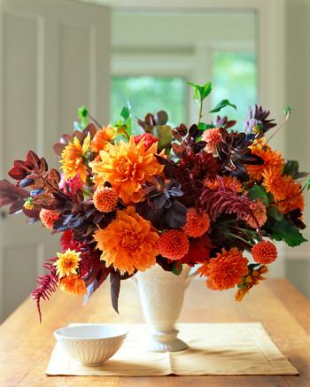 Orange Flower Arrangements Martha Stewart