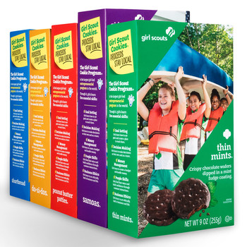 boxes of girl scout cookies