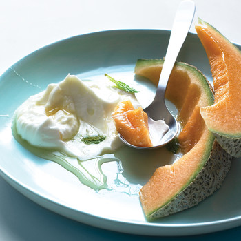 Melon with Honeyed Yogurt